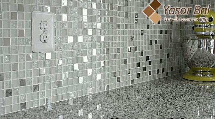 Beyaz Cam Mozaik