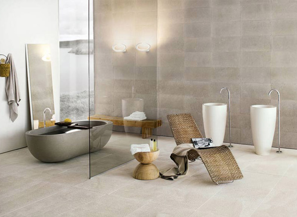 Doğadan Esinlenmiş Şık Banyo Dekorasyonu
