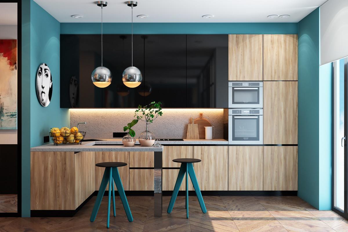 En güzel mavi mutfak dekorasyonları