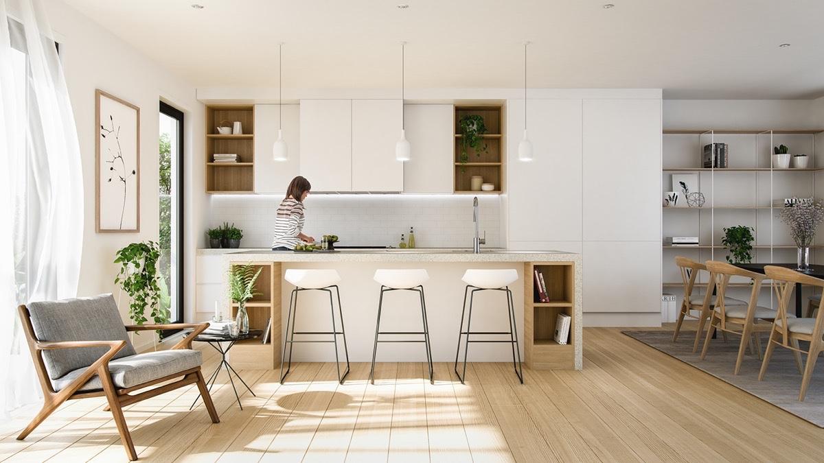 Süper Şık İlham Almak İçin Minimalist Mutfak tasarımları