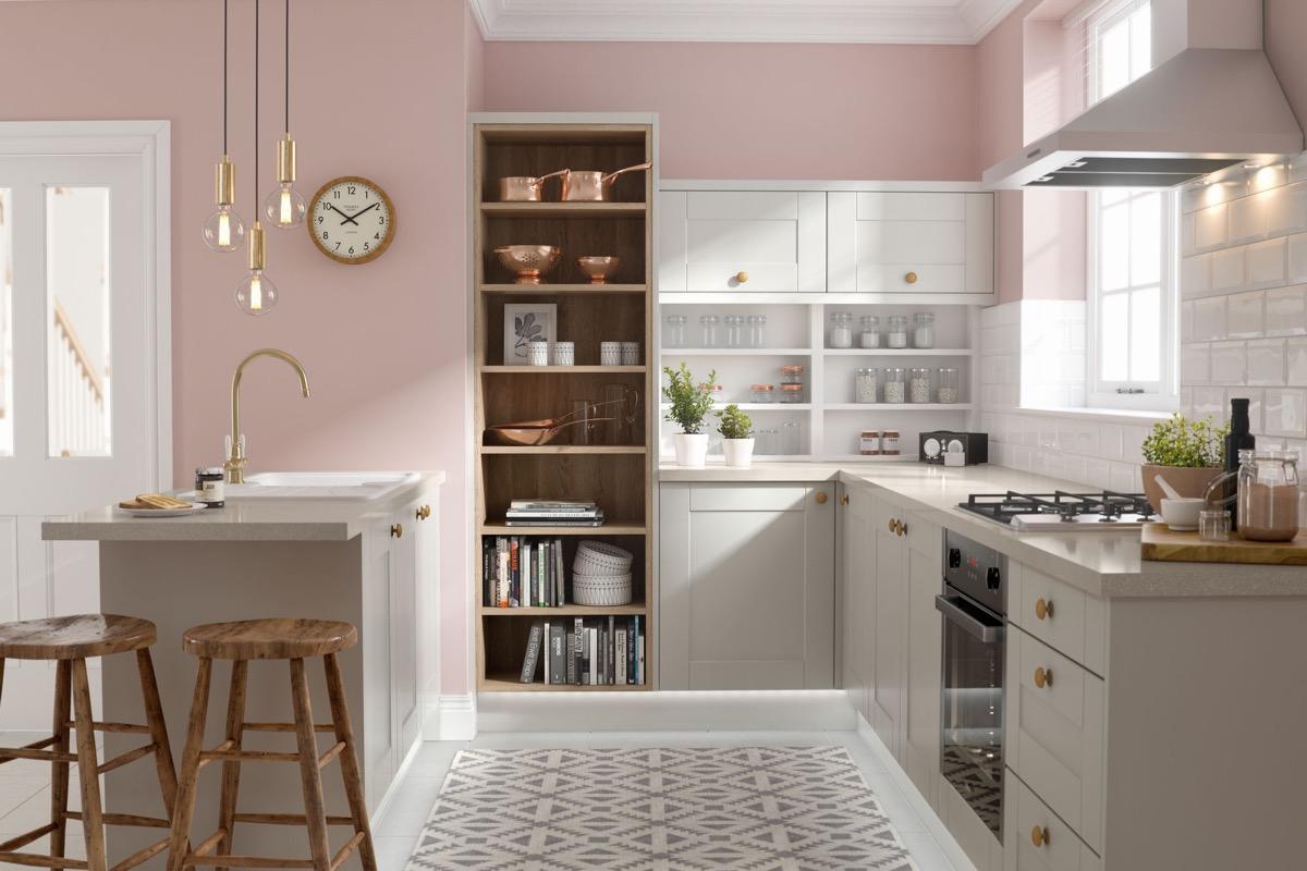 Sizin Tasarımınızı Yapmanıza Yardımcı Olacak İpuçları ve Aksesuarlar ile İlham Verici Pembe Mutfaklar