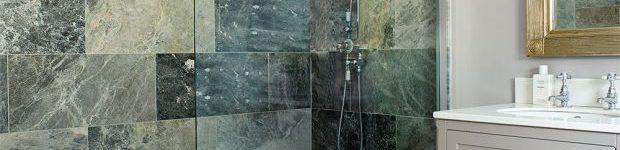 Gömme duşlu otel tarzı banyo