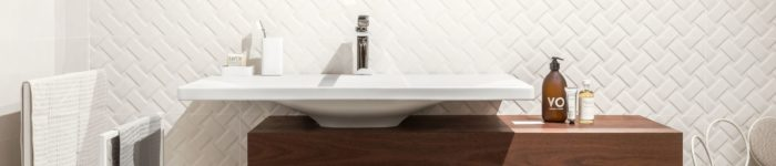 Metro tarzı banyo fayans modelleri