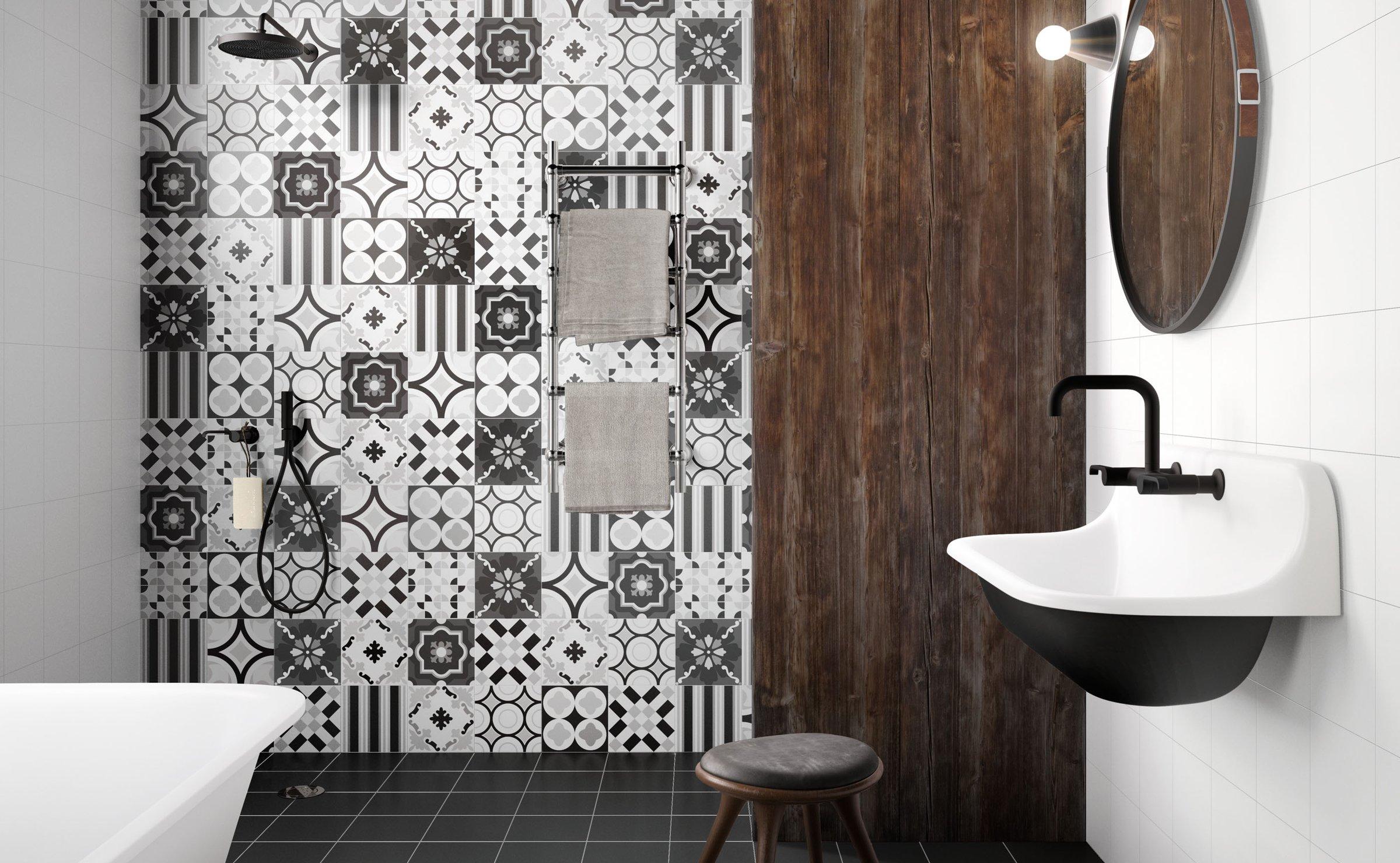 modern banyo fayans modelleri